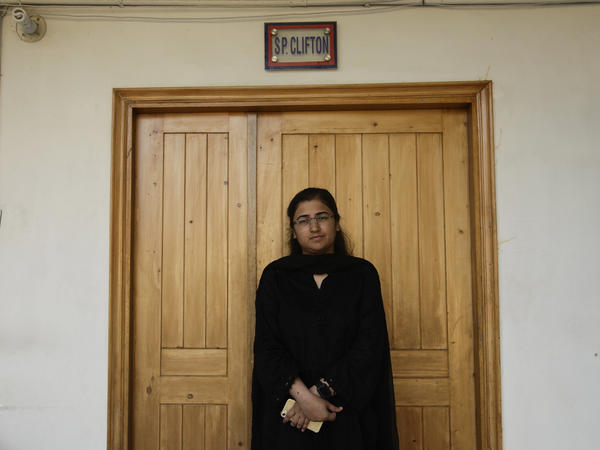 Suhai Aziz Talpur, seen in her office in Karachi's Clifton police station, has emerged as a hero in Pakistan after she led a mission to take down militants who stormed the Chinese consulate in November.