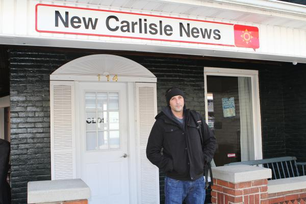Andy Grimm and his father co-own the New Carlisle Times. Their final print edition hit newsstands Dec. 5.