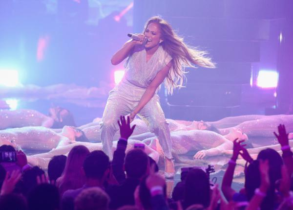 "Jennifer Lopez says women are increasingly realizing: ""We have worth, and value, and that we deserve everything that we want."" (Above) Lopez performs during the 2018 American Music Awards on Oct. 9 in Los Angeles."