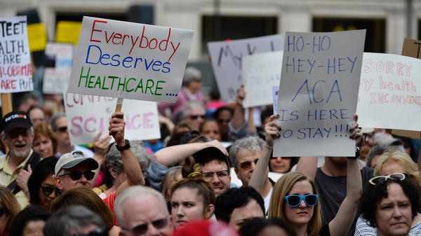 Philadelphia demonstrators protested earlier moves by Republicans to repeal the Affordable Care Act last February. If the ACA is indeed axed as unconstitutional, health policy analysts say, millions of people could lose health coverage, and many aspects of Medicare and Medicaid would change dramatically.