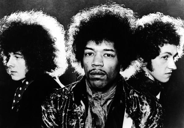 The Jimi Hendrix Experience in the late 1960s. Left to right: Noel Redding, Jimi Hendrix, Mitch Mitchell.
