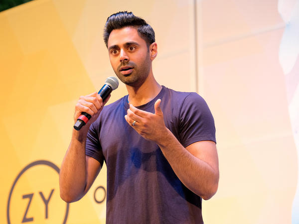 Hasan Minhaj performs in New York City in July. The Saudi government asked Netflix to remove an episode of the comedian's show <em>Patriot Act</em> that was critical of the regime over the death of Jamal Khashoggi.