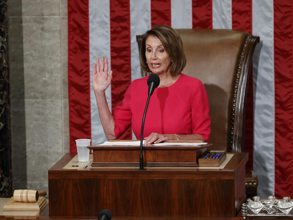 """House Speaker Nancy Pelosi said in a speech Thursday to the new Congress that Democrats want """"to lower health care costs and prescription drug prices and protect people with pre-existing medical conditions."""""""