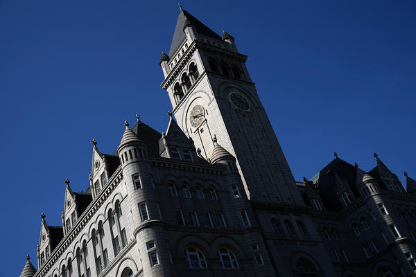 The Old Post Office building's clock tower. The Trump International Hotel is also located in the Old Post Office. During the current government shutdown, the clock tower, which is run by the National Park Service, has remained open even as other parks have closed, again raising questions about the intermingling of President Trump's business interests with the federal government.