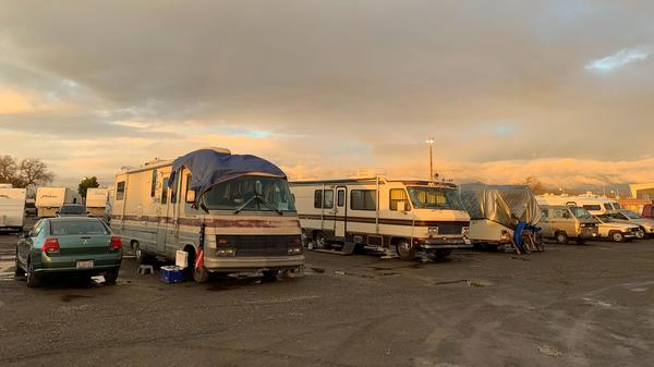 After the Camp Fire in November, thousands of people whose homes were destroyed were forced to seek refuge in nearby Chico, Calif. Some 700 people, some in their RVs, are still living at a Red Cross shelter at the Chico fairgrounds. The shelter is expected to close at the end of January.