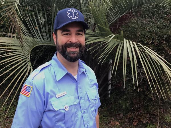 Frank Ruopoli of Charleston, S.C., works at the National Oceanic and Atmospheric Administration. After the 2013 partial shutdown he earned an emergency medical technician certification. Now he's found a part-time job to earn money during this shutdown.