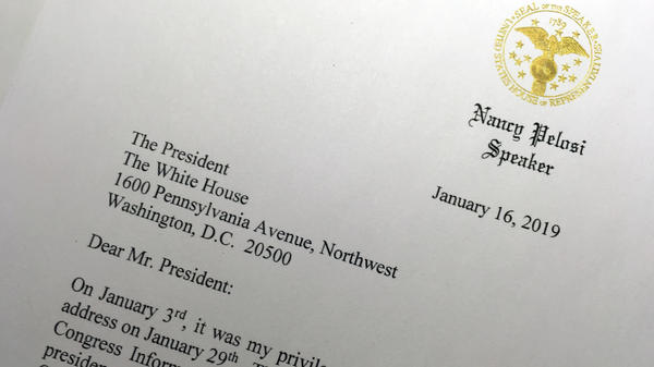 Speaker Nancy Pelosi has written President Trump to suggest his annual State of the Union message to Congress be delayed until the partial government shutdown ends.