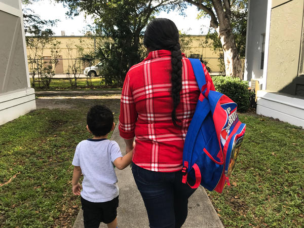 This young woman and her son fled Nicaragua in 2016 to get away from the boy's abusive father. They're living in South Florida while she seeks asylum.