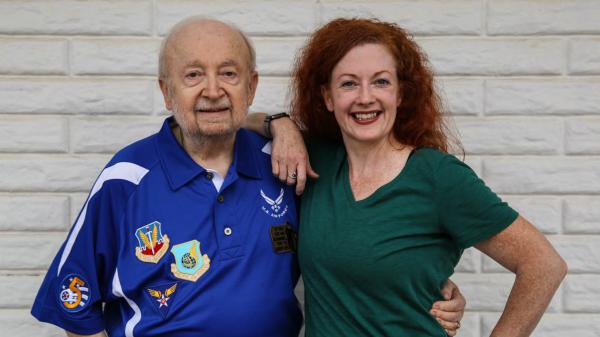 Jack ReVelle and his daughter, Karen, at StoryCorps in Santa Ana, Calif., last month. ReVelle recovered two hydrogen bombs that had accidentally dropped from a U.S. military aircraft in 1961. Many details about what happened were not released until they were declassified in 2013.