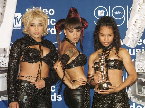 TLC at the 1999 MTV Video Music Awards. The trio won in the best group video category, beating boy-band juggernauts 'NSync and the Backstreet Boys.