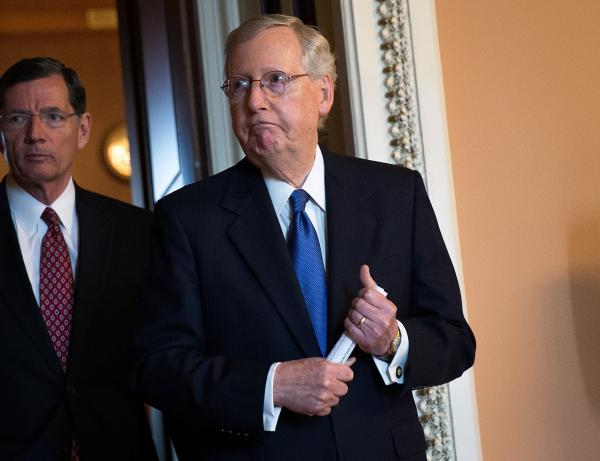 Senate Majority Leader Mitch McConnell led the effort to advance an amendment that supports keeping U.S. troops in Syria and Afghanistan to fight ISIS and al-Qaida.