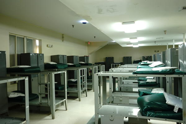 An empty dormitory at Turning Point Bridges International in Pompano Beach, FL.