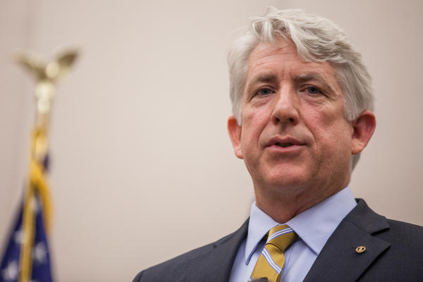 Virginia Attorney General Mark Herring speaks at a press conference in Richmond, Va., in 2014.