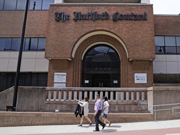Journalists at Connecticut's <em>Hartford Courant</em> newspaper, which is owned by Tribune Publishing, are petitioning to unionize.
