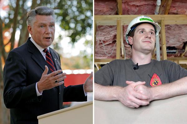 Mark Harris (left) and Dan McCready