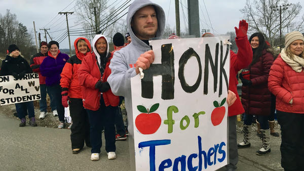 West Virginia teachers went on strike Tuesday to pressure the state legislature to reject funding for private schools.
