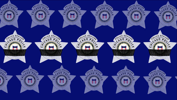 When a fellow officer dies, Chicago police wear black bands around their badges as a sign of mourning. At least five Chicago officers have taken their own lives since July.