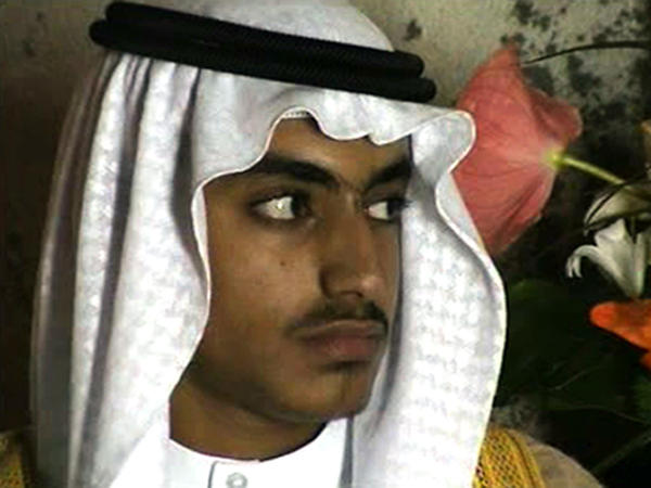 In this image from video released by the CIA, Hamza bin Laden is seen at his wedding. The U.S. government is offering a reward of $1 million for information leading to his location.