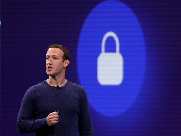 Facebook CEO Mark Zuckerberg speaks during the F8 Facebook Developers conference on May 1, 2018, in San Jose, Calif. He is pledging more enhanced privacy and other features when it comes to private messages.