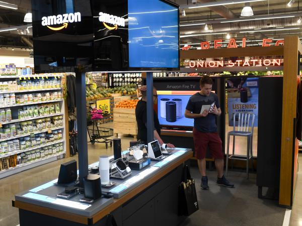 Amazon is closing all 87 of its pop-up kiosks in the United States, such as one seen here in Denver.