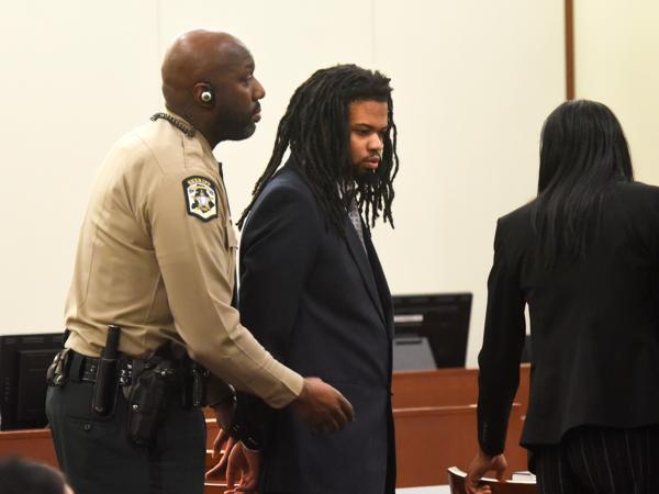 Rayquan Borum is handcuffed after his conviction in the killing of Justin Carr.