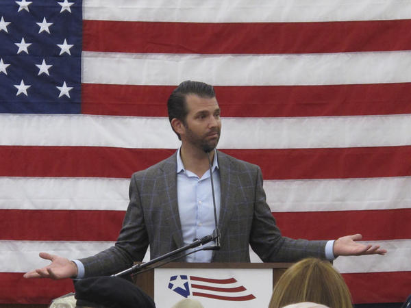 """Donald Trump Jr. did not go into detail on what President Trump had advised. Asked last year for details by the BBC, Prime Minister Theresa May said, with an amused expression: """"He told me I should sue the EU."""""""
