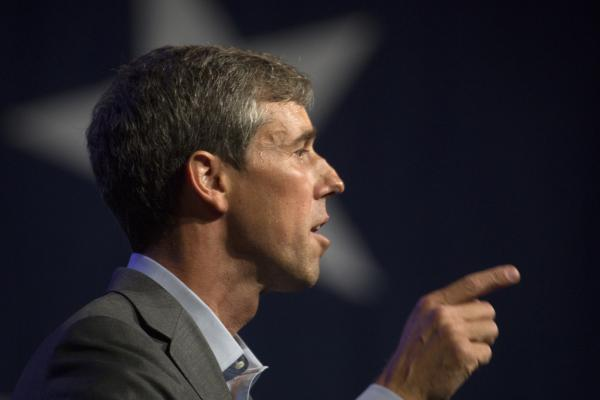 Beto O'Rourke addresses the crowd at the Texas Democratic Convention in Fort Worth last June.
