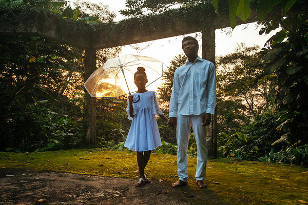 """The Burial Of Kojo"" takes place in Ghana, using a cast and crew made up almost entirely of locals. Above, Cynthia Dakwa, who plays the role of ""Esi,"" and Joseph Otsiman, who plays ""Kojo."""