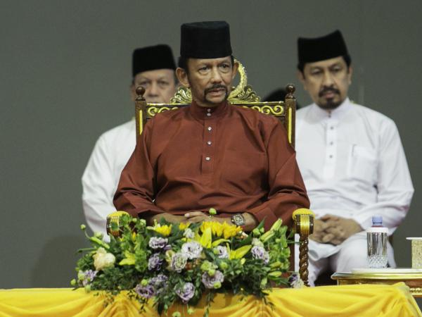 Brunei's Sultan Hassanal Bolkiah attends an event on Wednesday.