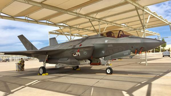 A Lockheed Martin F-35 Lightning II stealth jet fighter on the tarmac at Luke Air Force Base in Arizona. Turkey's purchase of 100 of the advanced aircraft is at risk because the NATO member also intends to buy a Russian anti-aircraft missile defense system.