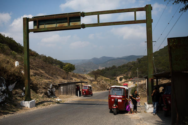 Some Central American migrants start their journey through Mexico at the Guatemalan border town of Gracias a Dios.