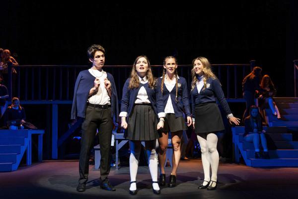 Students perform in Granite Bay High School's original production of <em>Ranked</em>.