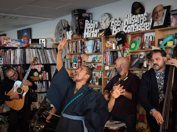 Café Tacvba, performing a Tiny Desk Concert in September 2018.