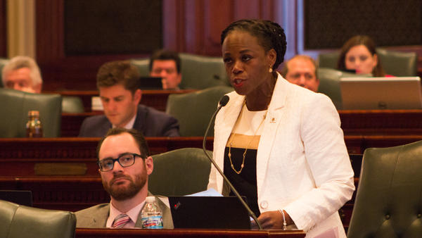 State Rep. Carol Ammons, a Democrat from Urbana, talked about the history of African American women being denied control over their own bodies.