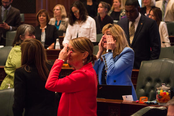 Democrats react to the House vote approving the Reproductive Health Act.