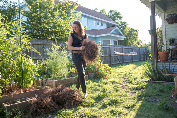 Since her spinal surgery, Liv Cannon has been able to work in the garden and play with her energetic dogs without having to worry about pain.