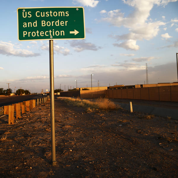 A sign is posted outside the U.S. Customs and Border Protection station in Clint, Texas, earlier this week, where lawyers reported that detained migrant children were held unbathed and hungry.