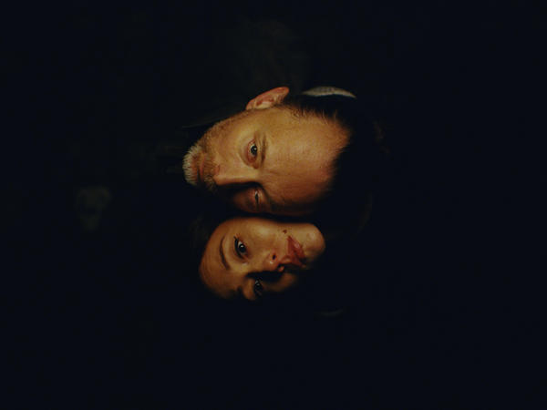 Thom Yorke and Dajana Roncione in a scene from the video for Yorke's <em>ANIMA</em>, directed by Paul Thomas Anderson.