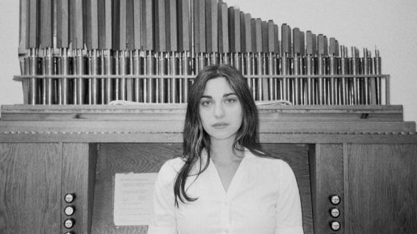 Kali Malone on the cover of <em>The Sacrificial Code</em>, one of two organ drone albums on this week's Viking's Choice.