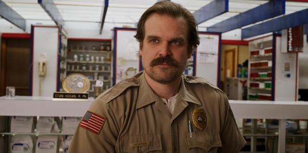 """We're all a bit of a mess ..."" says David Harbour. ""I've always wanted to portray that."" Harbour plays the cantankerous police chief Jim Hopper on the Netflix series<em> Stranger Things. </em>It returns for its third season on July 4."