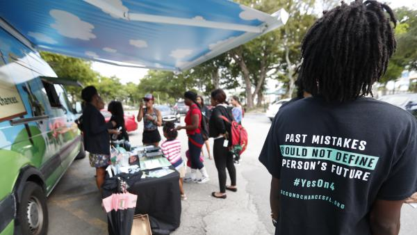 The campaign for restoring voting rights to felons was resoundingly approved by Florida voters last November.