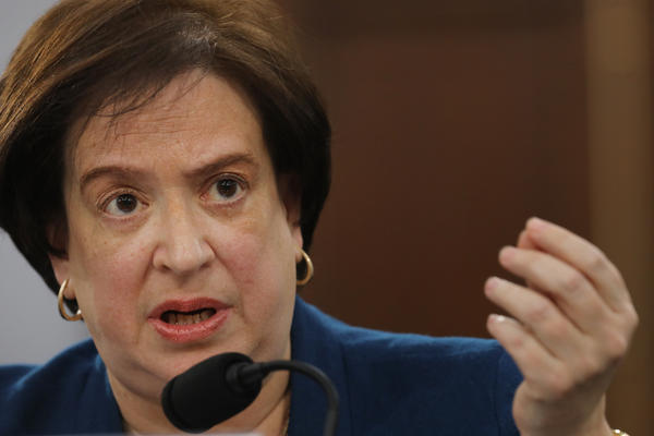 Supreme Court Justice Elena Kagan took on more of the consequential writings for the court's liberals this past term. Above, Kagan testifies on Capitol Hill about the court's budget.