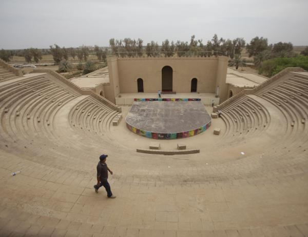 A man walks at the archaeological site of Babylon, Iraq, in 2012. Iraq is celebrating the historic city of Babylon's being named a World Heritage Site by UNESCO's World Heritage Committee.