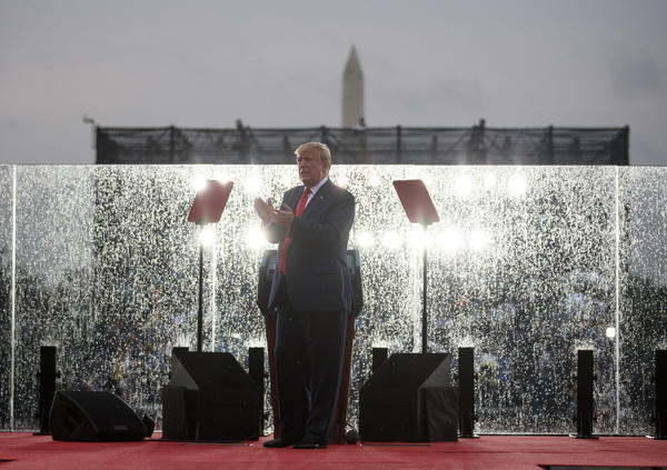 President Trump delivered a speech in front of the Lincoln Memorial to celebrate Independence Day. Lawmakers are seeking details of the costs of flyovers and heightened security and raising questions about whether it was a political event.