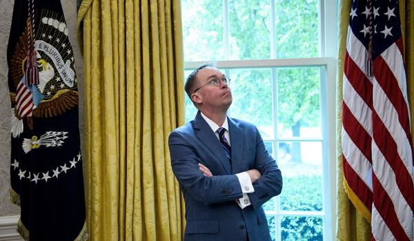 Acting White House Chief of Staff Mick Mulvaney, pictured in the Oval Office on May 13, is one of President Trump's closest advisers, but his negotiating tactics aren't widely loved on Capitol Hill.