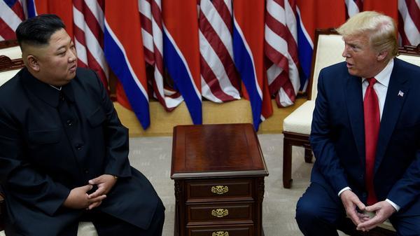 North Korean leader Kim Jong Un and President Trump met in the demilitarized zone between the Koreas on June 30.