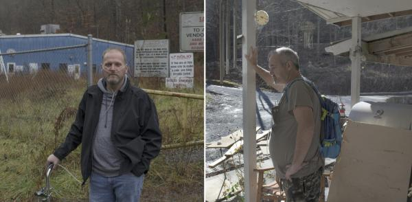 On Tuesday, coal miners Danny Smith (left) and Greg Kelly are expected on Capitol Hill, where they'll ask lawmakers to fully restore a tax that pays for medical care for miners diagnosed with black lung. Both have the worst stage of the disease after years of mining.
