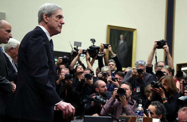 Former special counsel Robert Mueller arrives to testify to the House Judiciary Committee about his report on Russian interference in the 2016 presidential election on Wednesday.