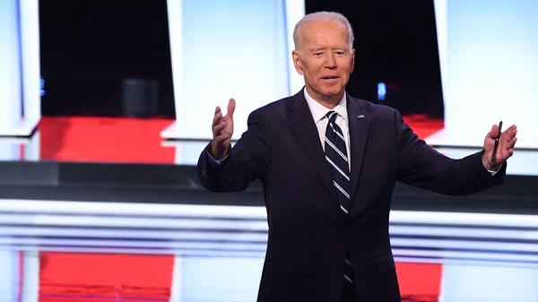 Former Vice President Joe Biden was directly challenged by several other candidates, including Sens. Kamala Harris, Kirsten Gillibrand and Cory Booker.