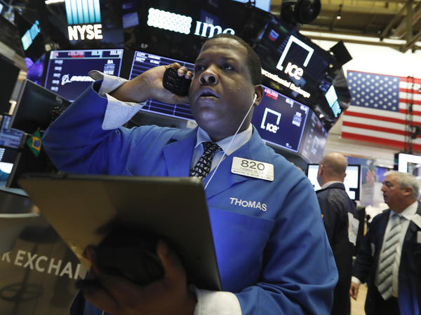U.S. stocks nosedived Monday as China's currency fell sharply and raised fears that the U.S.-China trade war would keep escalating.